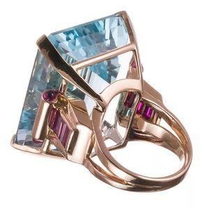 Jewelry - 10.4Ct. Aquamarine Ring